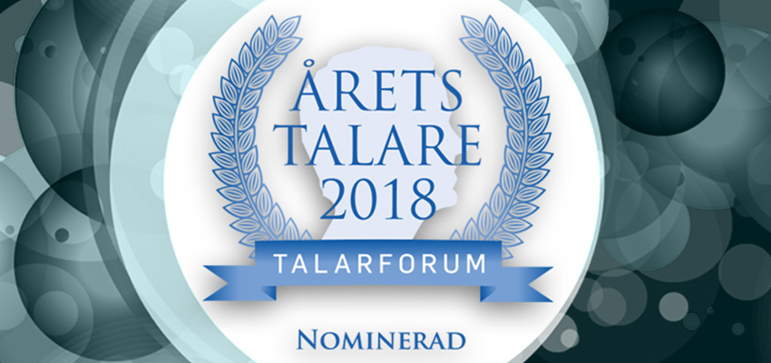 "Sara Lund/Claes Schmidt nominerad till Talarforums pris ""Årets Talare"""
