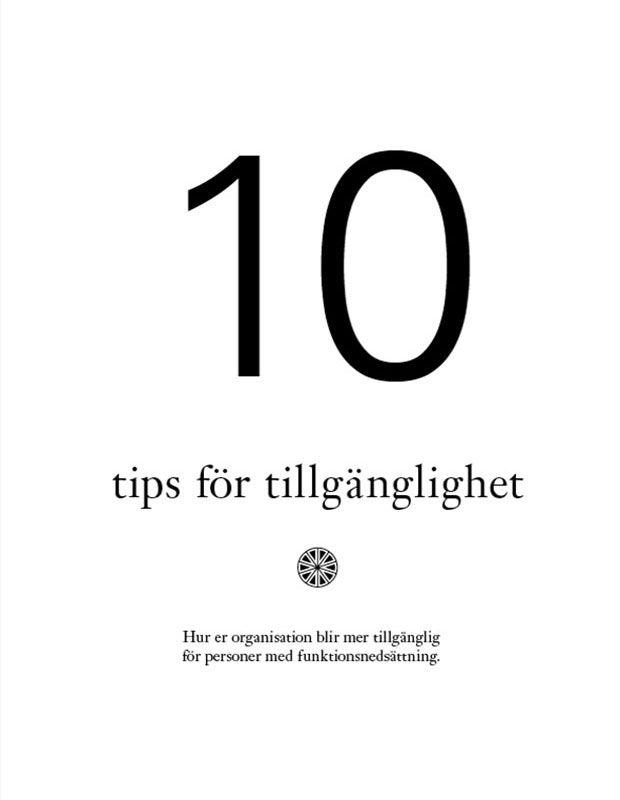 10 tips för tillgänglighet